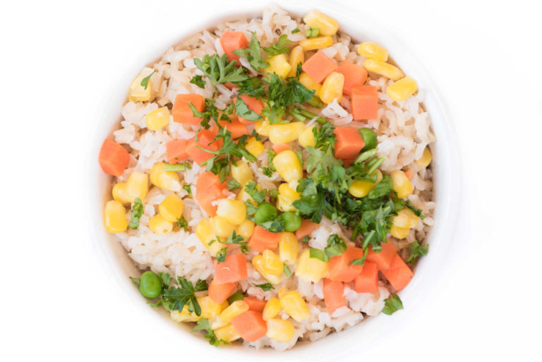 74 Arroz integral com vegetais